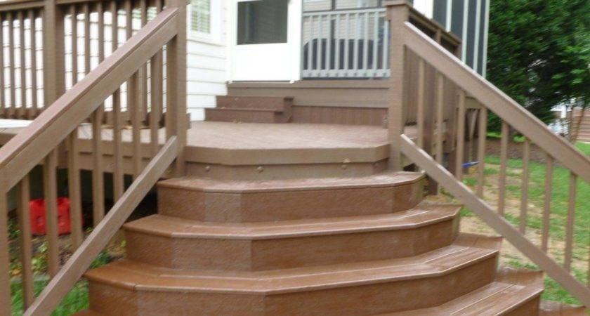 Outstanding Deck Stairs Design Exterior