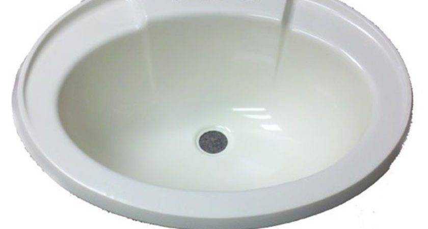 Oval Bone Plastic Sink Mobile Home