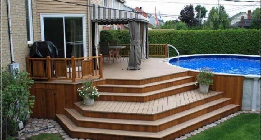 Oval Pool Decks Amazing Patio Deck Design