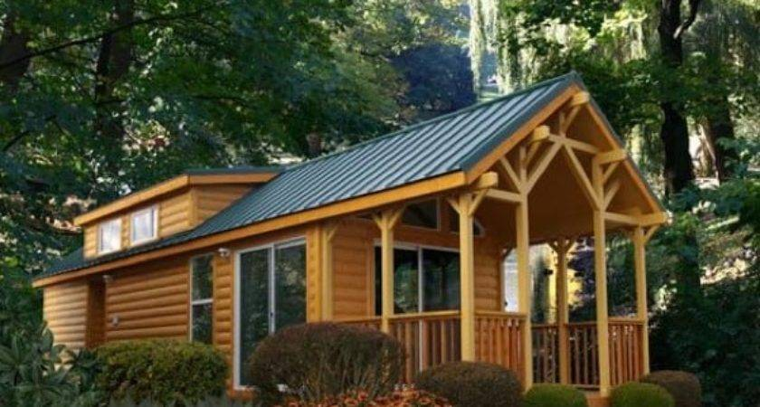 Pacific Lodge Park Model Log Home Tiny House