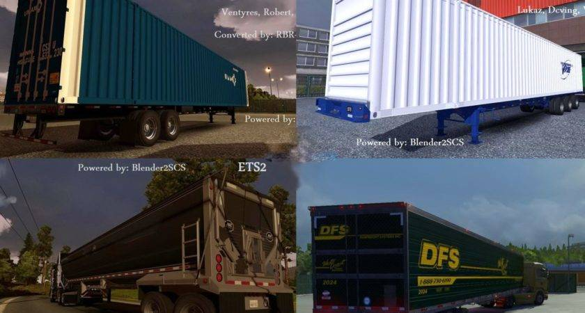 Pack American Trailers Ets Game Mods