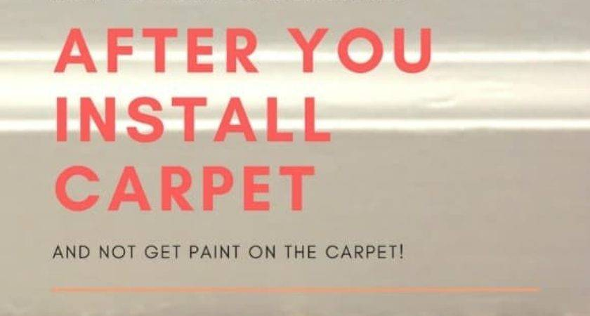 Paint Baseboards After Install Carpet