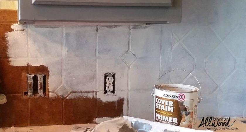 Paint Kitchen Tile Grout Easy