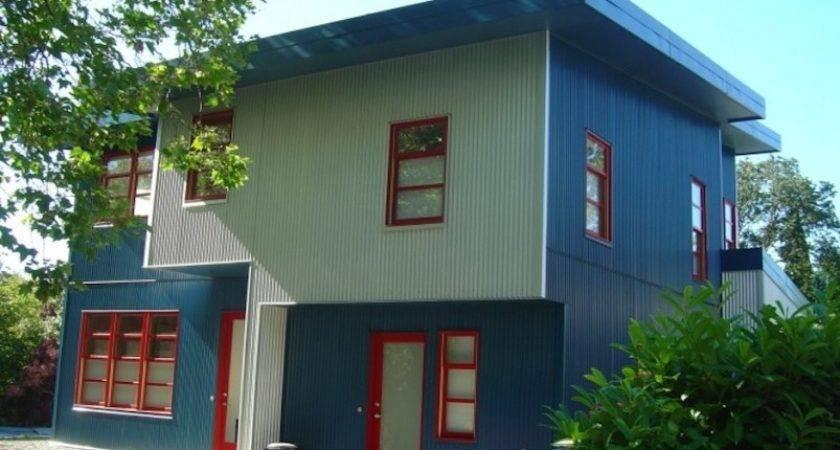 Paint Metal Home Exteriors Modern Rustic Look