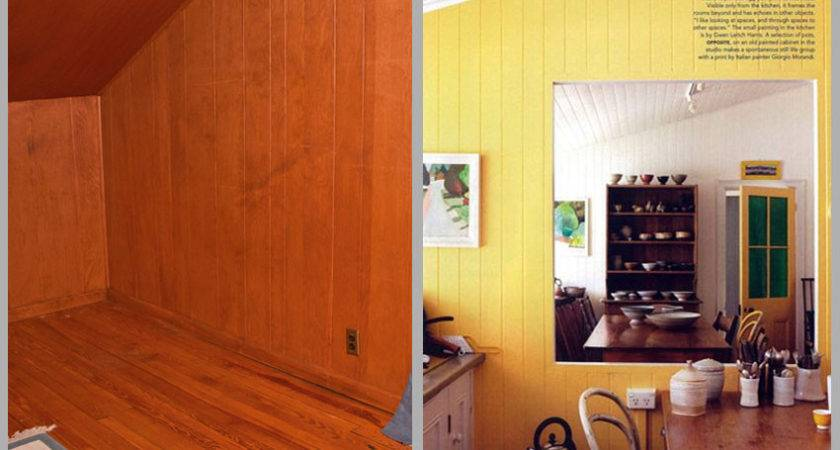 Paint Paneling Before After Painting Wood