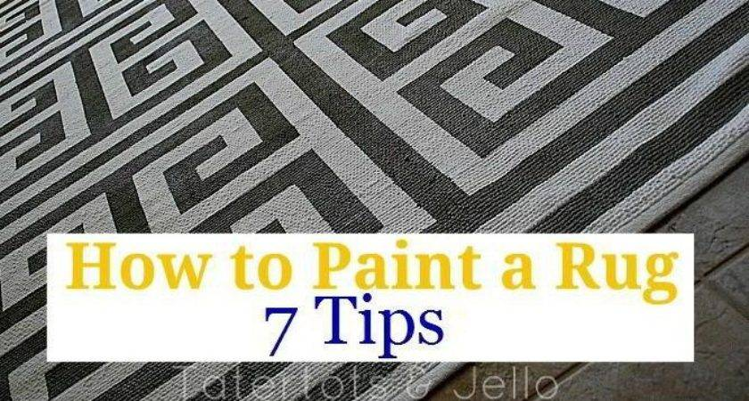 Paint Rug Seven Tips Painting Perfect