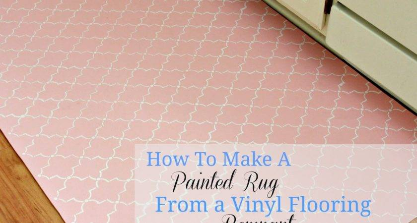 Paint Rug Using Vinyl Flooring Love