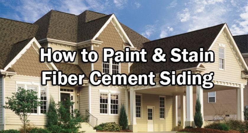 Paint Stain Fiber Cement Siding