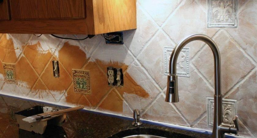 Paint Tile Backsplash Budget Solution