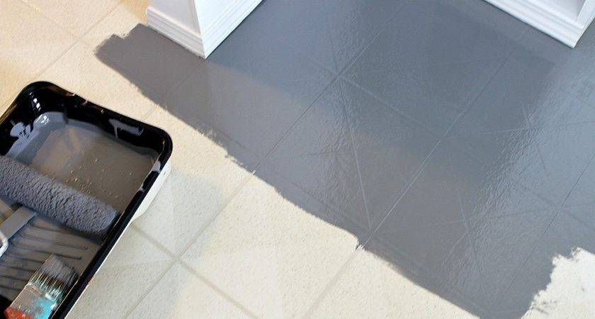 Paint Vinyl Floor Diy Painted Floors Dans