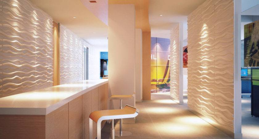 Paintable Waves Wall Panels Contemporary