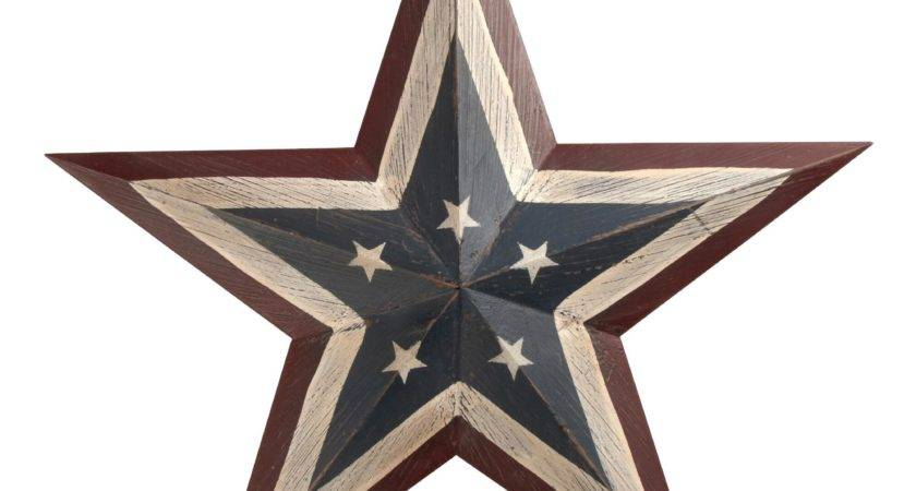 Painted Americana Wood Star Wall Decor Christmas Tree