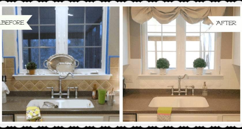 Painted Ceramic Tile Backsplash Kitchen Year