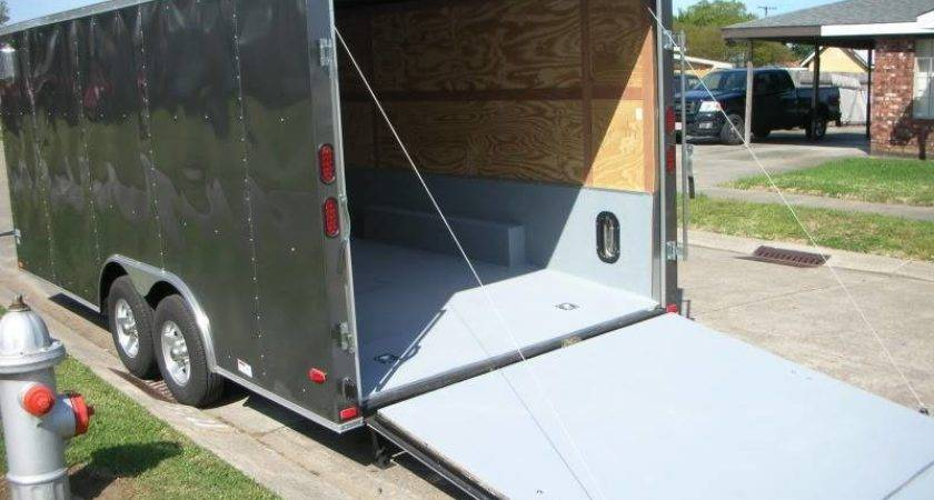 Painted Floor New Enclosed Trailer Pics Encluded