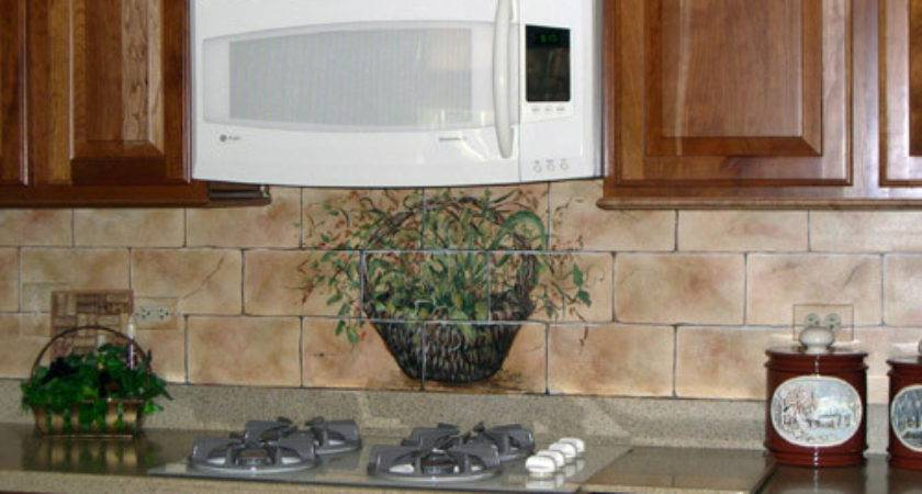 Painted Kitchen Backsplash Hand