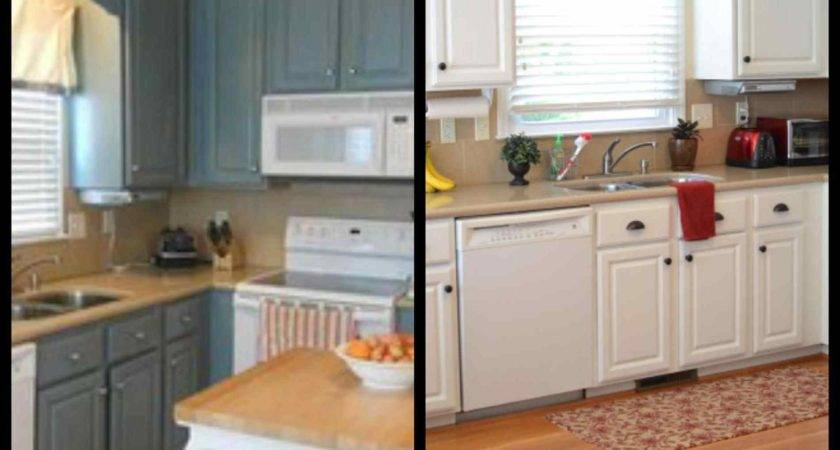 Painted Kitchen Cabinet Ideas Before After Deductour