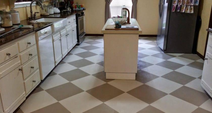 Painted Linoleum Floors Virtuous Wife