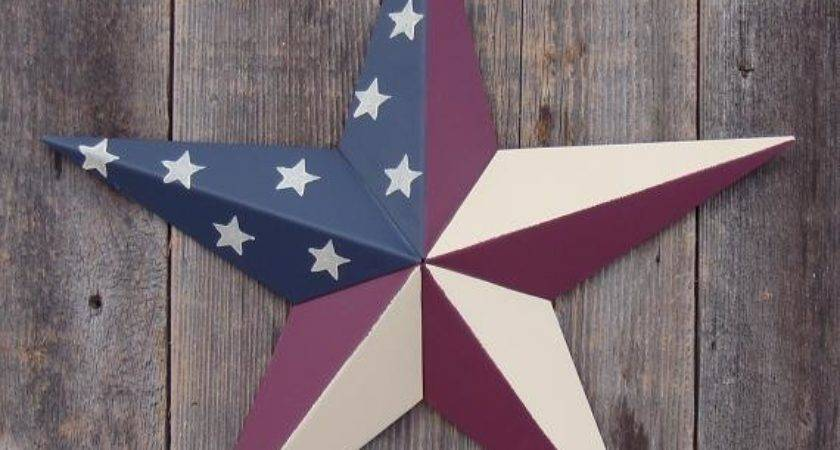 Painted Metal Tin Barn Star Color Choices Rustic