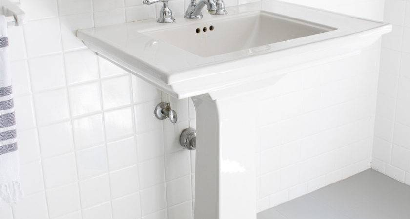 Painted Our Bathroom Ceramic Tile Floors Simple