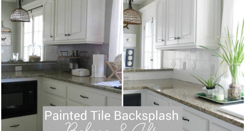 Painted Our Kitchen Tile Backsplash Wicker House