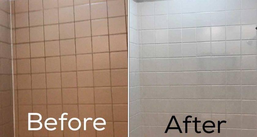 Painting Bathroom Tile Before After Diy Floor