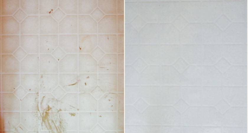 Painting Bathroom Tile Before After