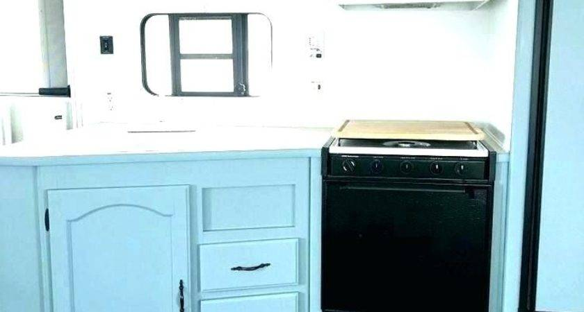 Painting Cabinets Pop Camper Makeover Can Paint