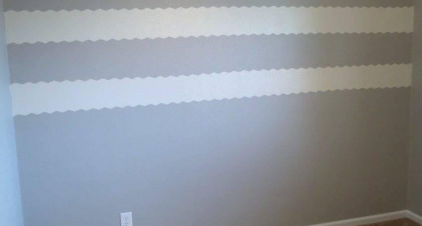 Painting Chevron Stripes Textured Walls Newlywoodwards