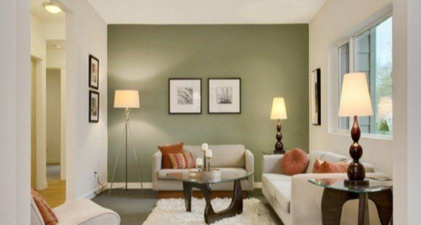 Painting Comfortable Small Living Room Green Colored