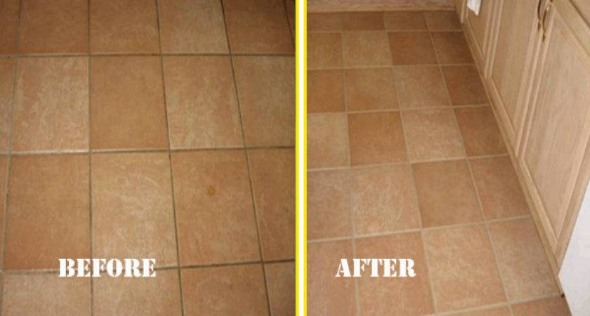 Painting Floor Tiles Before After
