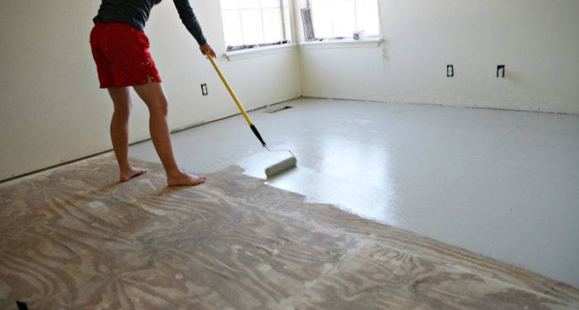 Painting Floors Painted Plywood