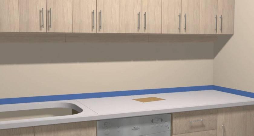Painting Formica Backsplash Laminate Countertop