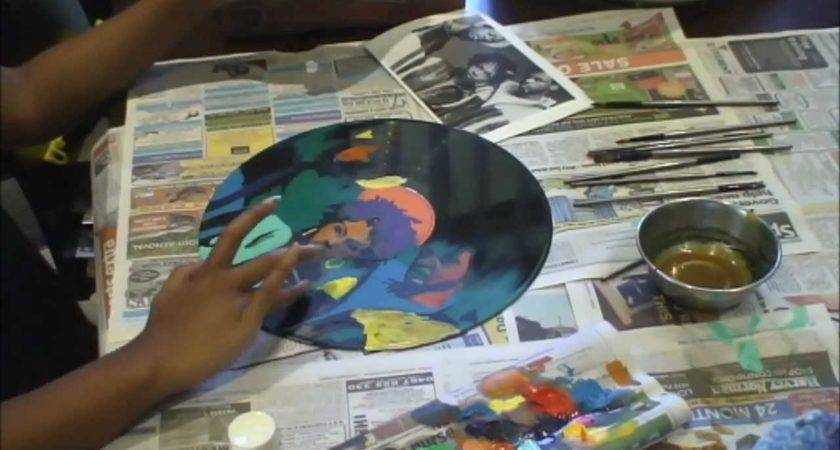 Painting Fugees Vinyl Record Time Lapse Youtube