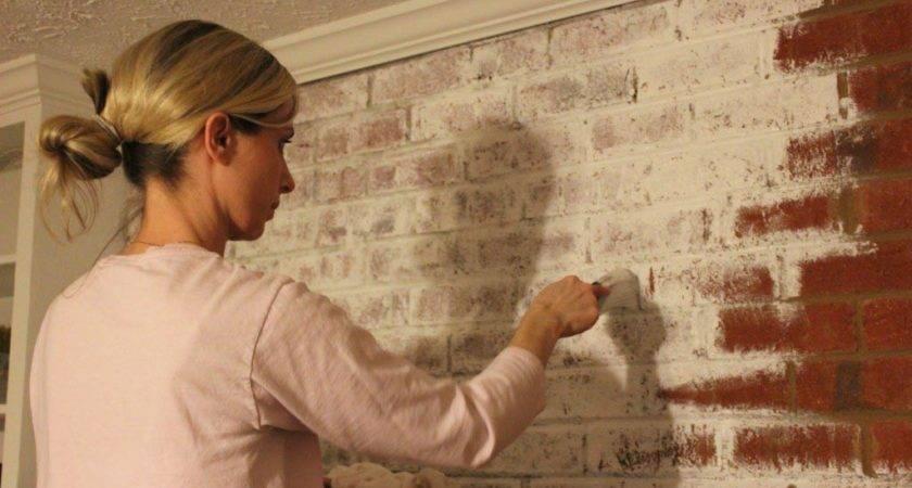Painting Interior Brick Fireplace Designs