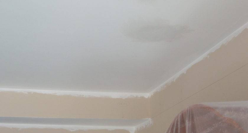 Painting Over Water Stains Ceiling