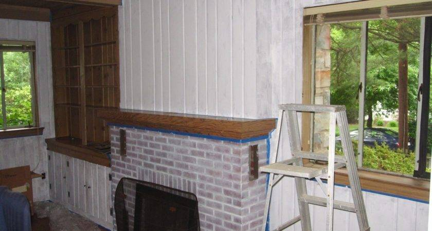 Painting Wood Paneling Lion Den