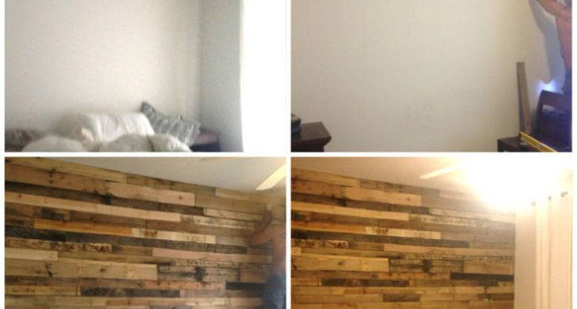 Pallet Accent Wall Home Tutorial Hometalk