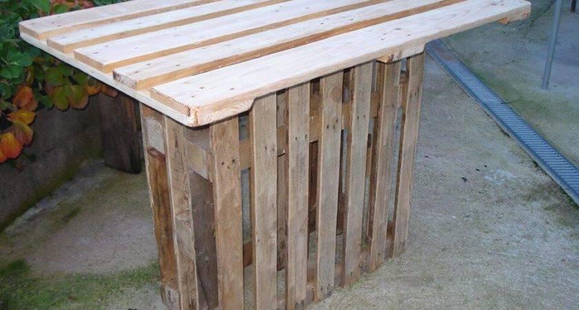 Pallet Bar Table Easy Ideas