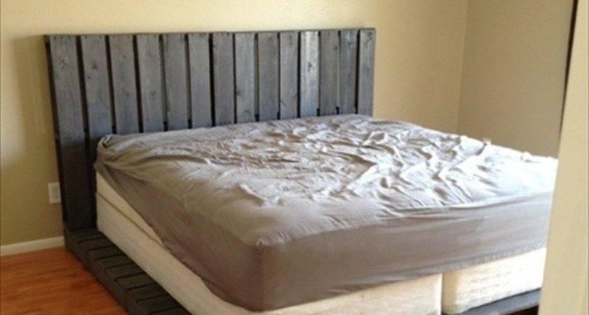 Pallet Bed Frame Lights Made Out Pallets