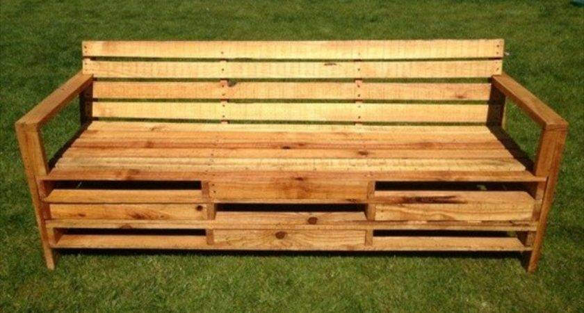 Pallet Bench Your Backyard