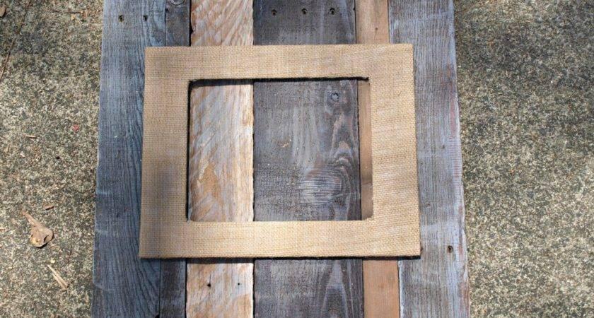 Pallet Burlap Frame Simply Swider