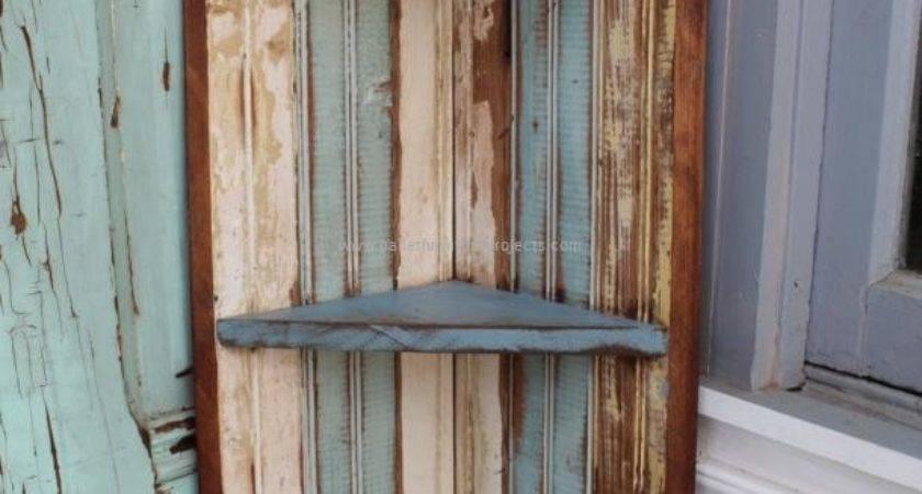 Pallet Corner Shelf Ideas Furniture Projects