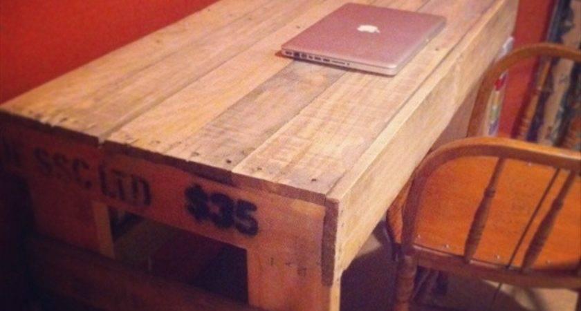 Pallet Desk Diy Furniture Plans