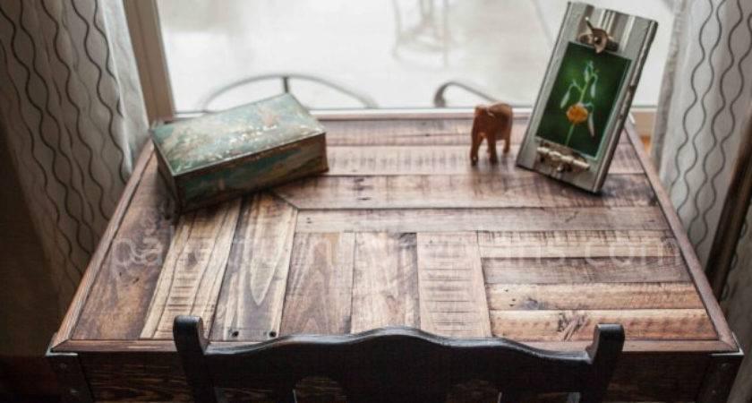 Pallet Desk Metallic Legs Furniture Plans