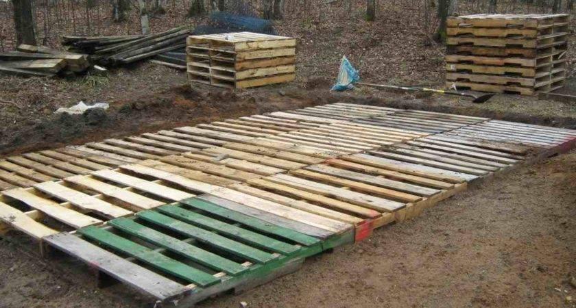 Pallet Diy Build Low Deck Boardwalk Youtube