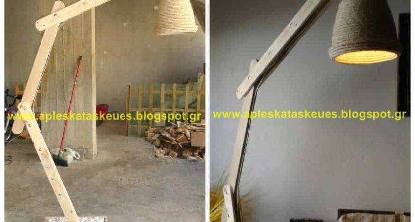 Pallet Floor Lamp Alex Pallets