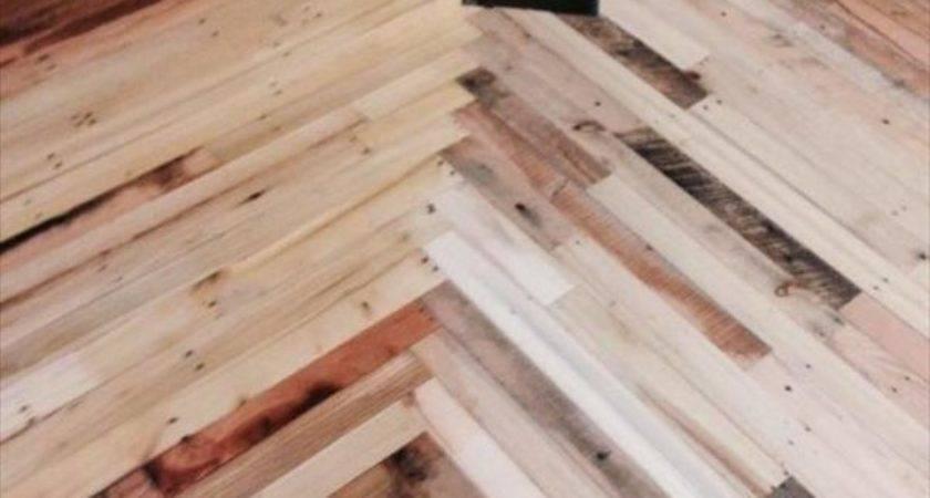 Pallet Flooring Home Wood Diy