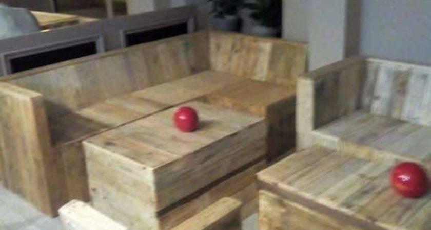 Pallet Furniture Made Cafe Pallets