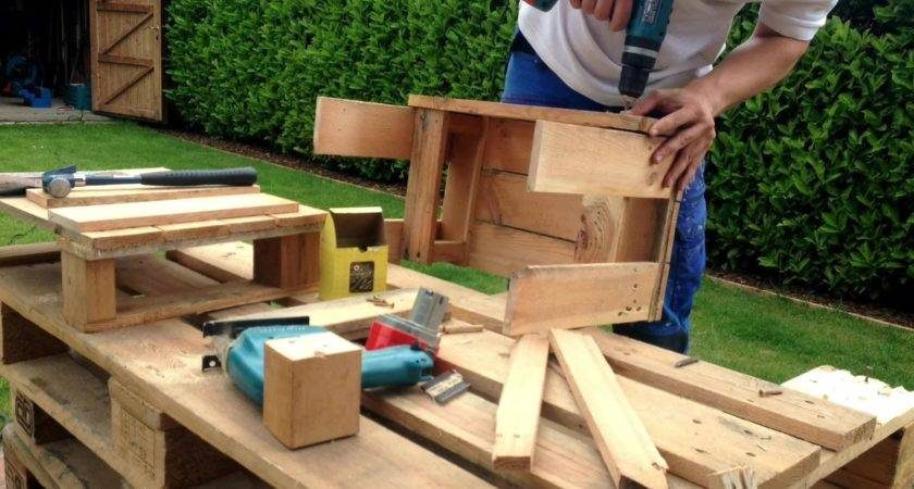 Pallet Furniture Quick Easy Youtube