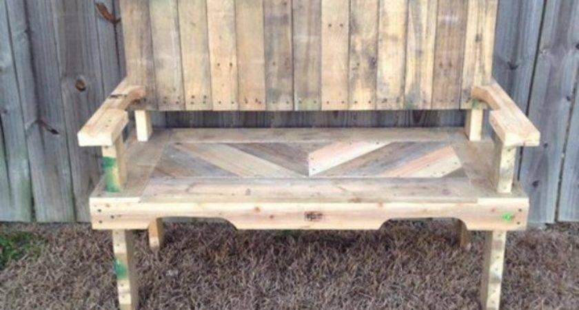 Pallet Garden Bench Ideas Photograph Pallets Made Chair